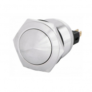 Кнопка металлическая с фиксацией выпуклая 22мм 1NO+1NC TYJ 22-331 АСКО-УКРЕМ