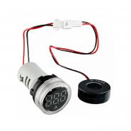 Амперметр цифровой ED16-22AD 0-100A (белый) врезной монтаж