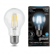 Лампа Gauss LED Black FIL А60 10W E27 4100К