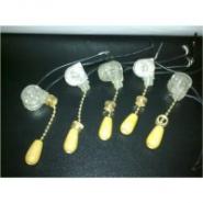 Выключатель на бра короткий шнурок серебро-дерево