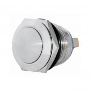 Кнопка металлическая выпуклая 19мм 1NO винтовое соединение TY 19-231A Scr АСКО-УКРЕМ