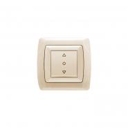 Выключатель кнопочный для управления жалюзи крем VIKO Серия CARMEN