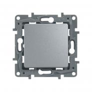 Выключатель 1 кл. алюминий Legrand, Etika