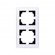 Рамка 2-я вертикальная с боковой вставкой Lezard серия RAIN