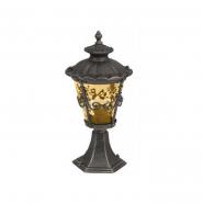 Светильник садово - парковый Palace 1131Е/А4-S 60W E27 черный янтарное стекло