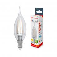 Лампа LED свеча на ветру 4W E14 3000K прозрачная ELECTRUM