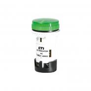Лампа сигнальная LED матовая зеленая TT02X1 240V 54 мм Этимат