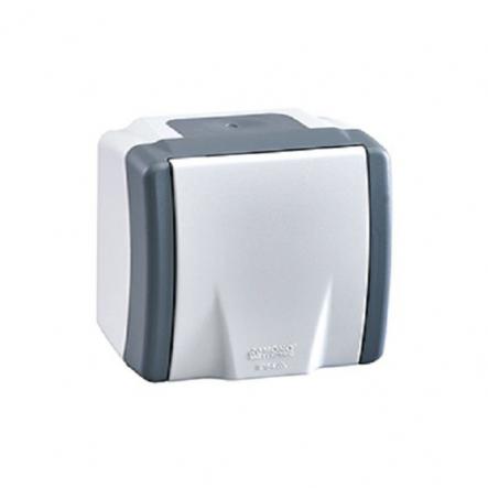 Розетка с заземлением Mono Octans без шторок без крышки серый 154-020007-117 - 1