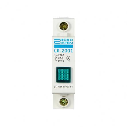 Светосигнальный индикатор АСКО-УКРЕМ СЛ-2001 зеленый неон - 1