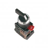 Переключатель  АLСLR-22-3 черный на 3 фиксированных положения I-O-II 1з+1р ІЕК