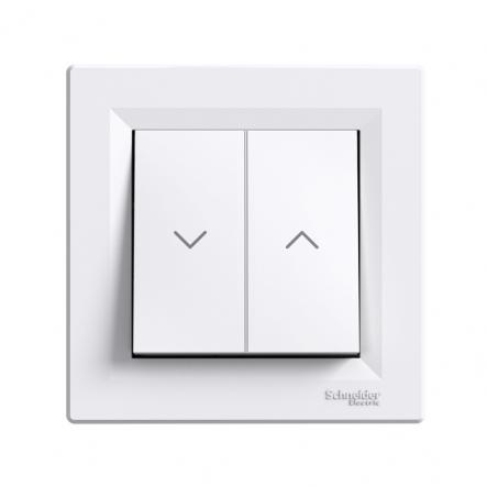 Выключатель для жалюзи самозажимной белый ASFORA - 1