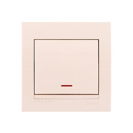 Выключатель одинарный с подсветкой крем DERIY LEZARD - 1