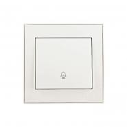 Кнопка звонка  жемчужно-белый перламутр Lezard серия RAIN
