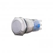 Кнопка металлическая плоская, 19мм 1NO+1NC TYJ 19-211 АСКО-УКРЕМ
