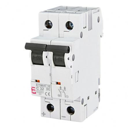 Автоматический выключатель ETIMAT 10 DC 2p C 32А (6 kA) - 1