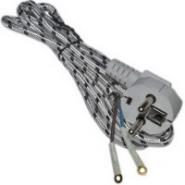 Шнур на утюг 2м с  вилкой с заземлением 10А 220В (1,7м) (3*0,75мм)