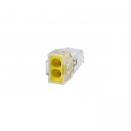 Клема быстрого монтажа СМК 773-322 2х2,5 мм желтая IEK