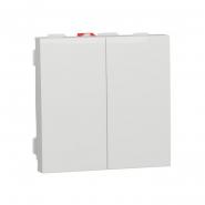 Выключатель двухклавишный Schneider Electric NU321118, 10А 2М (белый)