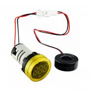 Вольтметр круглый  ED16-22VD 30-500В АС (жёлтый) врезной монтаж