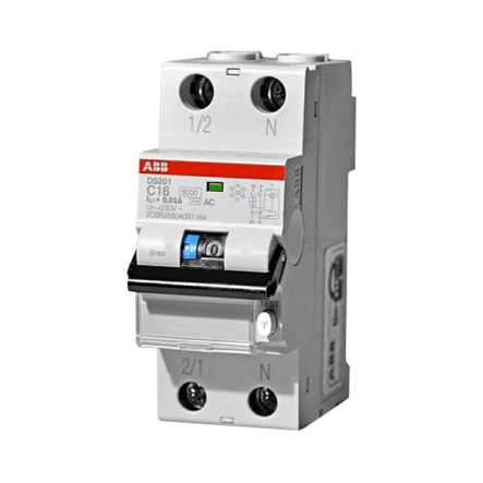 Диф. авт. выкл. DS201 A-C16/0,03 ABB 2CRS255140R1164 - 1