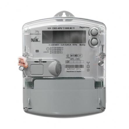 Счетчик NIK 2303 АP6Т 1000. МС.11 НИК - 1