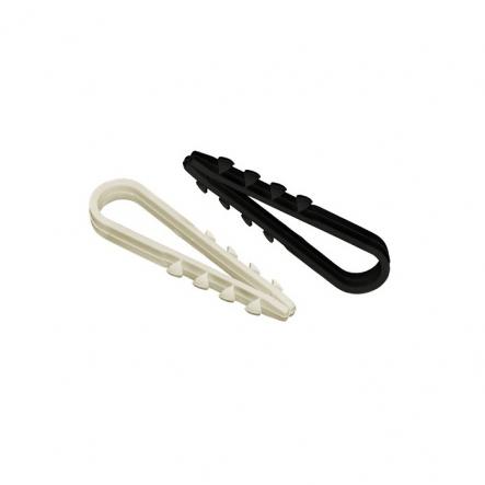Дюбель хомут 11-18мм нейлон черный (петля монтажная)(100шт) - 1