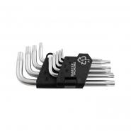Ключи короткие, набор 9шт. Mastertool Torx T10-T50 L55-133мм