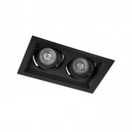 Светильник точечный Feron DLT202 2xMR16/G5.3 черный поворотный