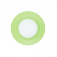 Светильник светодиодный Feron 3W круг, зеленый 240Lm 5000K 90*26mm d75mm