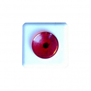 Кнопка звонка белая с красн.