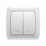 Выключатель для управления жалюзи белый VIKO Серия CARMEN