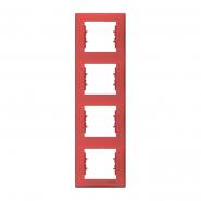 Рамка четверная красная