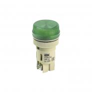 Светосигнальный индикатор IEK ENR-22 d22мм зеленая неон 240В цил.