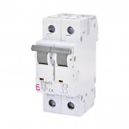 Автоматический выключатель ETI 6 2p C 6А (6 kA) 2143512