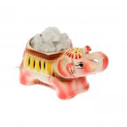 Светильник соляной Слоненок розовый (керам)