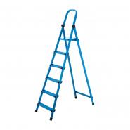 Стремянка метал. WORK'S 6ступ. 406, синяя высота 345см