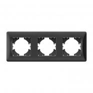 Рамка х3 горизонтальная черный графит  VIDEX BINERA