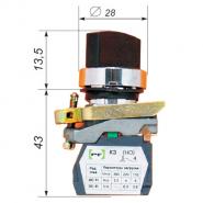Переключатель трёхпозиционный ВК-011ПР3 131Р 1но+1нз Промфактор