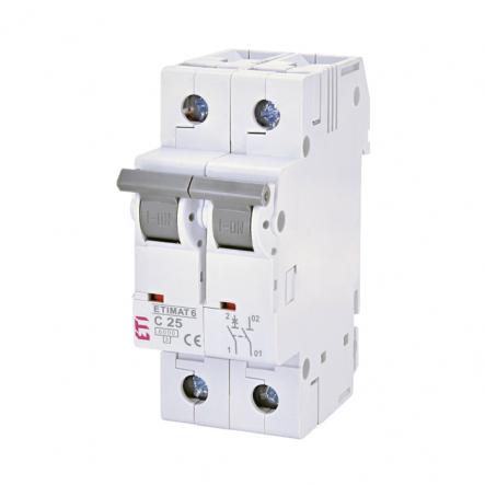 Автоматический выключатель ETI 6 1p+N С 25А (6 kA) 2142518 - 1