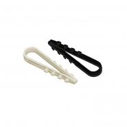 Дюбель хомут 5-8мм нейлон черный (петля монтажная)