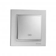 Выключатель  1 кл. промежуточный  Mono Electric, DESPINA (серебро)