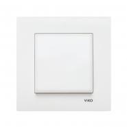 Выключатель одноклавишный белый KARRE VIKO