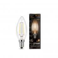 Лампа Gauss LED Black FIL C37 5w E14 2700К