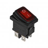 Перемикач 1 клав. вологозах. з підсвічуванням KCD1-4-201WN R/B  220V АСКО