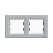 Рамка 2-а горизонтальная Asfora алюминий