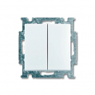 Выключатель двухклавишный ABB Basic 55 белый