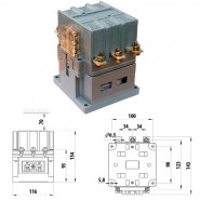 Магнитный пускатель ПММ 5/80А 380В Промфактор