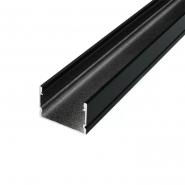 Профиль алюминиевый LP-20AB А 20х30 м+розс LM-20B( чёрный)