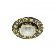 Светильник точечный DL MR-11 черный металл/золото GU4
