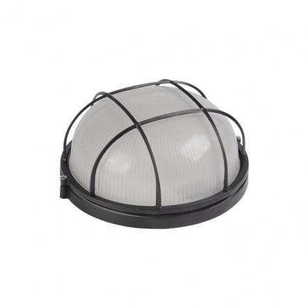 Светильник НПП 1302 60W черный-круг решетка IP54 - 1